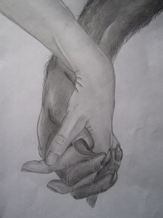 Fan art drawing by reader Fee Schramme (she's a teenage girl who loves the story) - showing the love between a girl and a werewolf.