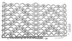 Chevron-like crochet stitch
