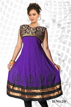 Elegant personality with new SIXMETER Purple #Casual Wear #Anarkali Style #Kurti for lovely lady.