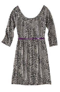 756f3cc15621 Xhilaration Gray Leopard Skater Above Knee Short Casual Dress Size 8 (M)  27% off retail