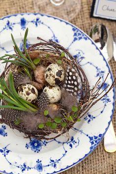Easter nest on Royal Copenhagen