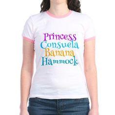 $24 That's Mrs. Princess Consuela Banana Hammock to you! Phoebe Buffay t-shirt for a Friends TV Show fan.