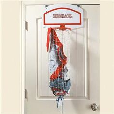 Over-the-Door Basketball Net Laundry Bag - Personalized Gifts for Kids | Lillian Vernon