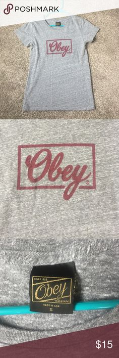 Obey Tee Shirt Size small Obey Tee Shirt. Excellent condition Obey Tops Tees - Short Sleeve