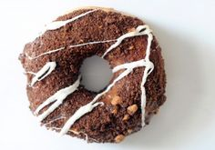 The Sea Salted Caramel, a caramel-coated doughnut topped with brownie brittle crumbs and a drizzle of white chocolate from Loops Homemade Donuts. Paul Stephen/StarNews