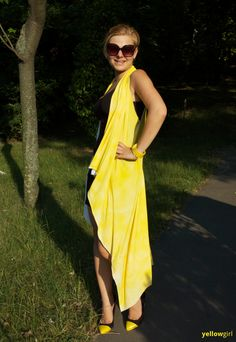diy yellow sommercape - yellowgirl