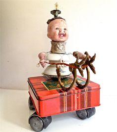 Art Doll Assemblage OOAK by redzebradesigns on Etsy, $175.00