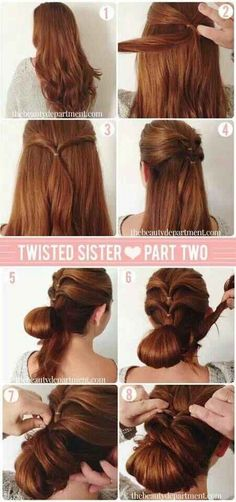 Get twisted with this twisted updo.