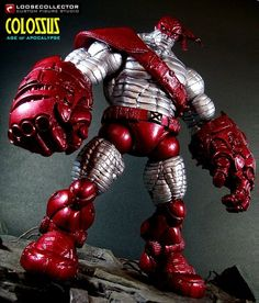 Aoa Colossus custom action figure from the Marvel Legends series using MLs as the base, created by loosecollector. Comic Room, Love Statue, Hulk, Custom Action Figures, Star Wars Art, Star Trek, Disney Marvel, Anime Figures, Dibujo