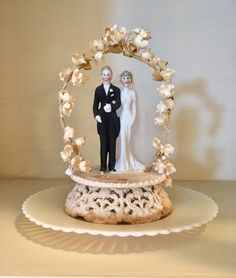 My parents wedding cake topper from 1937.