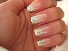 cant decide on a simple french white tips with a diemon or go all out with gliter