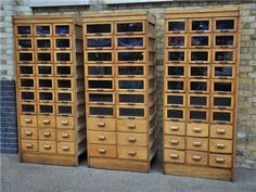 was sold in London, haberdashery showcase cabinet, I'm drooling