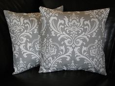 DAMASK Pillows Grey and White Accent Pillows 20x20 by beckorama, $28.00