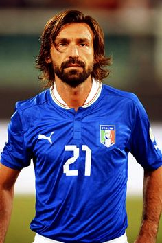 The ever-graceful Andrea Pirlo. Football Icon, Football Is Life, World Football, Sport Football, Football Shirts, Andrea Pirlo, Fifa, Football Hairstyles, Italy Soccer