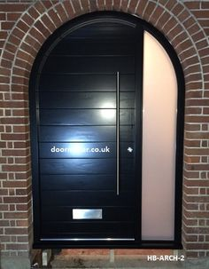 Contemporary Arched Front Doors, oak iroko and other woods, Bespoke Doors Porch Doors, Entrance Doors, Entrance Halls, Arched Front Door, Arched Doors, Porch Styles, Contemporary Front Doors, Front Porch Design, House Viewing