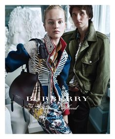 Burberry | Fall 2016 Ad Campaign – The Impression Photographer | Mario Testino Models | Alex Dragulele, Cavan Mccarthy, Jean Campbell