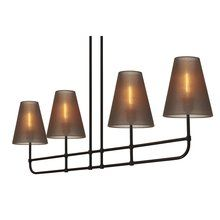 View the Sonneman 1964 Bistro 4 Light Island Fixture with Bronze Organza Shades at LightingDirect.com.