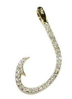 Fish hook bracelet my style for Gold fish hook necklace