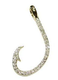 Fish hook bracelet my style for Gold fish hook pendant