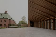 For the extension of a museum in Mänttä, Finland, Spanish studio MX_SI proposed a building with mullioned wooden cladding. Wood Architecture, Cultural Architecture, Architecture Awards, Education Architecture, Residential Architecture, Contemporary Architecture, Architecture Details, Contemporary Art, Pavilion Architecture