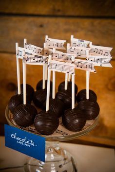 Make music note flags for appetizer or dessert trays. Photo by Traci J. Brooks Studios.