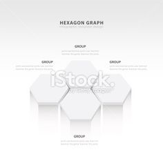 vector abstract 3d hexagonal paper infographic elements White st Royalty Free Stock Vector Art Illustration