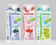 Bio-line Of Dairy Products on Packaging of the World - Creative Package Design Gallery