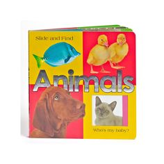Slide and Find Animals Book, Multicolor