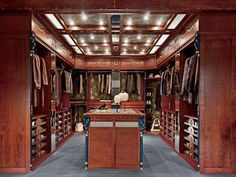 man #closet. wow! --------------------------- For tips on how to create your dream #wardrobe, visit my Blog!! www.jensetter.com/2013/10/organizing-tips.html ---------------------------