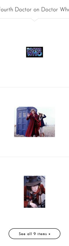 """""""Fourth Doctor on Doctor Who"""" by allie-19 ❤ liked on Polyvore featuring doctor who and pics"""