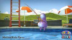 Pescar en la piscina - Imagenes de los Glumpers - Glumpers cartoon pictures