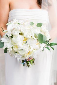 Lush bridal bouquet inspiration with all-white florals. Photo: @rosemarygreenphotography Wedding Bouquets, Wedding Flowers, Wedding Dresses, Mod Wedding, Wedding Ideas, Church Ceremony, Groom Wear, Romantic Weddings, Wedding Planner