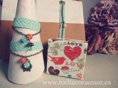 Pulseras puntilla y adornos vintage