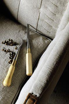 Dolcezza fabrics. Strong linen for upholstery. #linens, #texture, #upholstery #elitis
