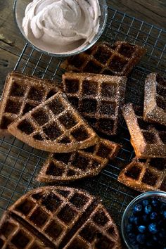 Chocolate Gluten Free Waffles Recipe. #breakfast