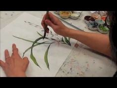 Chinese Brush Painting of orchid plant