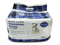 American Kennel Club 50 Count XLarge Training Pads 30Inch by 28Inch by American Kennel Club *** Read more reviews of the product by visiting the link on the image.(This is an Amazon affiliate link and I receive a commission for the sales)