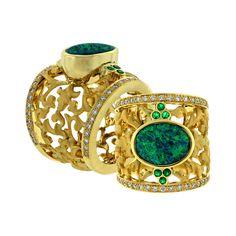Gemstones used: Opal Emerald Diamonds zircon