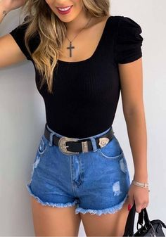 110 fashion trends that we stole from the early -page 1 Basic Outfits, Summer Fashion Outfits, Cute Summer Outfits, Cute Casual Outfits, Short Outfits, Cute Fashion, Look Jean, Really Cute Outfits, Mein Style