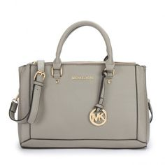Michael Kors Logo Large Grey Satchel