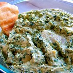 Although regular plain Hummus is my favorite, a new twist is always appreciated - like this Spinach-Artichoke Hummus from Food.com