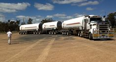 Heil Fuel Tanker AB-Triple owned by Inland Petroleum of Dubbo, NSW - trailers sold by Express Engineering, also of Dubbo Road Train, Kenworth Trucks, Trailers, Engineering, Abs, Journey, Australia, Legends, Earth