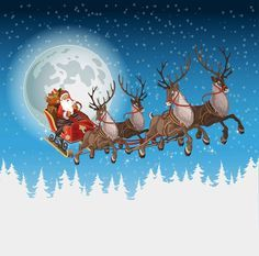 Find Christmas Background Santa Driving His Sleigh stock images in HD and millions of other royalty-free stock photos, illustrations and vectors in the Shutterstock collection. Christmas Scenes, Christmas Art, Vintage Christmas, Illustration Noel, Christmas Illustration, Christmas Background, Christmas Wallpaper, Merry Christmas Pictures, Christmas Typography