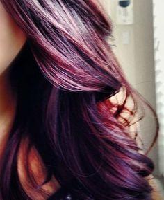 Deep purple - thinkin of this with the long bob hair cut!