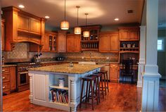 cabinets and island design