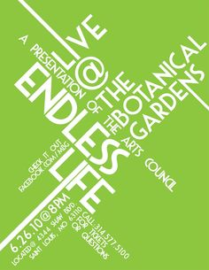 cool typographic poster layout