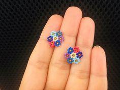 Beaded earrings 288511919881387035 - Cluster Flower Post or Stud Earrings Beaded Earrings Native, Beaded Earrings Patterns, Seed Bead Earrings, Diy Earrings, Bracelet Patterns, Stud Earrings, Cluster Earrings, Macrame Earrings, Black Earrings