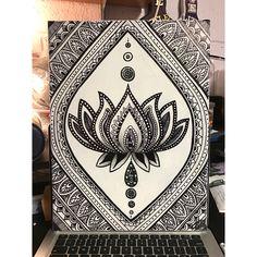 Lotus flower drawing. DIY