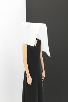 Issey Miyake at Totokaelo Photography by Charlie Schuck Mondrian Art, Deconstruction, Issey Miyake, Set Design, Art Direction, High Waisted Skirt, Editorial, Van, Black And White