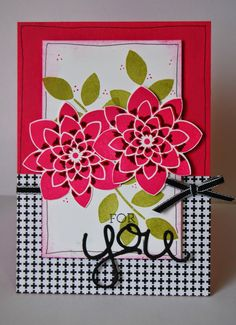 Stampin' Up! UK Independent Demonstrator - Julie Kettlewell: Crazy About You Crazy About You, Flower Patch, Friendship Cards, Punch, Flower Cards, Creative Cards, Potpourri, Craft Fairs, Stampin Up Cards